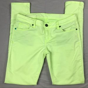 Hurley skinny jeans size 28 neon yellow jeans